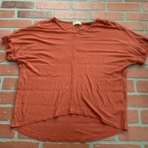 Ginger G Rust Orange Dolman Sleeve Tunic Top B3